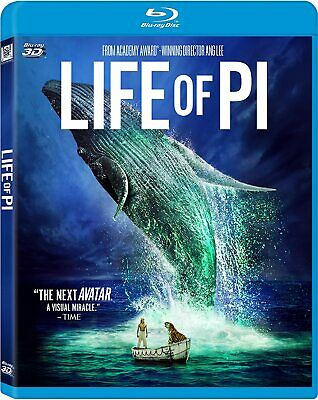 Life of Pi Blu-ray 3d + Blu-ray + DVD Collector's Edition NEW Factory Sealed