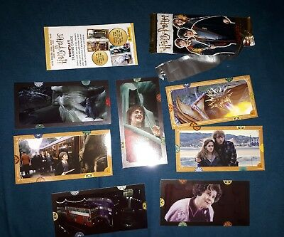 8 Stück Harry Potter Contact Trading Cards von Panini 2018