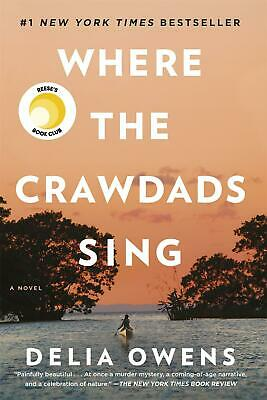 Where the Crawdads Sing by Delia Owens (English) Paperback Book Free Shipping!