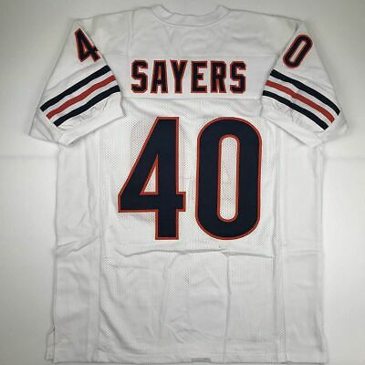 New GALE SAYERS Chicago White Custom Stitched Football Jersey Size Men s XL ec62e3ffc