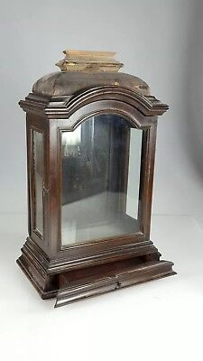 RARE 18th CENTURY RELIGIOUS/ TWIN FUSEE ELM BRACKET CLOCK CASE ONLY PROJECT
