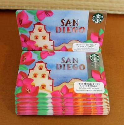 Starbucks Gift Card Lot San Diego City Mission Gold No Value Limited Ed 12 Cards