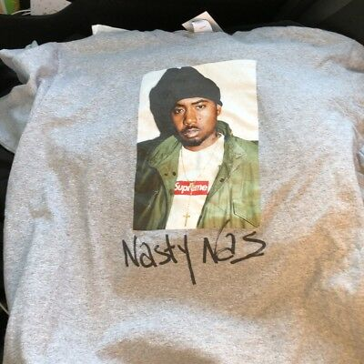 a31683ae92d6 SUPREME NASTY NAS Tee Medium Lime Green Brand New 100% Authentic ...