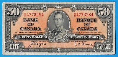 $50 1937 Bank of Canada Note Coyne-Towers B/H Prefix BC-26a - Very Fine