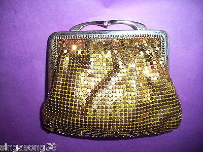 Gold Glomesh Coin Purse 1970s era with Firm Clasp