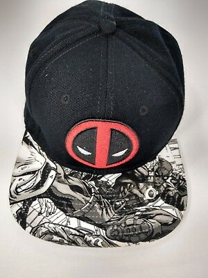 timeless design 47555 0a96c Marvel Comics Deadpool Baseball Hat Adj. Snapback New.