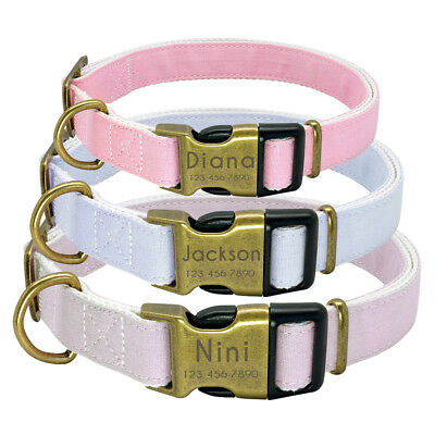 Nylon Personalized Dog Collar With Heavy Duty Release Buckle Adjustable Collars