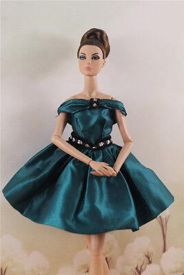 Fashion  Lovely  Green  Party Dress Evening Skirt Gown clothes For 11 inch Doll
