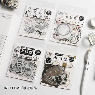 40x Washi Paper Sticker Decoration DIY Calendar Scrapbooking Stationery Stickers