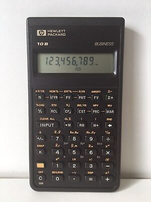 Hewlett Packard HP 10B BUSINESS VINTAGE CALCULATOR CASE Working