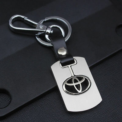 Metal Keychain for Toyota Avensis Yaris CHR Prius Hilux Verso Land Cruiser