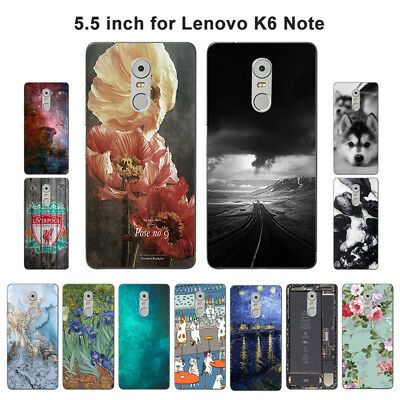Soft TPU Silicone Case For Lenovo K6 Note Protective Back Covers Shell Marble