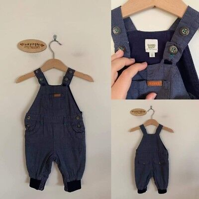 Sz 00 Baker Baby lined charcoal overalls