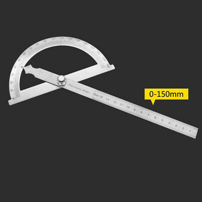 180° Measurement Protractor Angle Finder Rotary Measure Scaleplate Ruler Tool UK