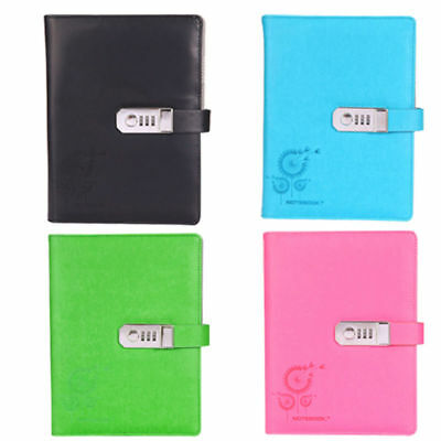 Classic Retro Vintage PU Blank Pages String Notebook Journal Diary with Password