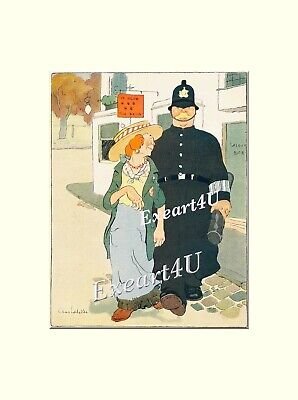 English Bobbys Police Policemen Law Enforcement Humour Drunks Art Pictures Print
