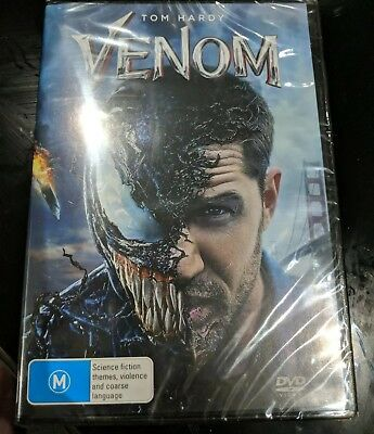 Tom Hardy Venom DVD Region 4 NEW