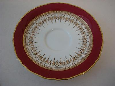 Royal Worcester Regency Ruby Red Saucer