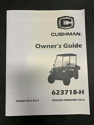 653034 CUSHMAN HAULER 1200 Gas Owners Guide 2017 2018 Golf