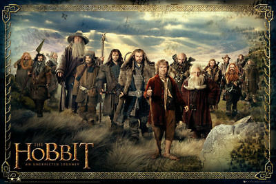 The Hobbit An Unexpected Journey Cast Movie Poster 36x24 inch