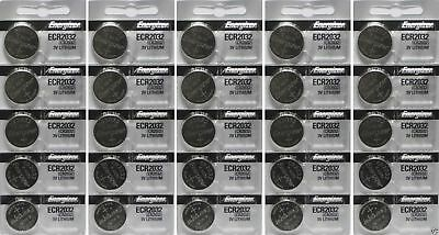 Energizer ECR2032 50 Genuine Fresh Date CR2032 2032 Lithium 3 Volts Batteries