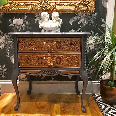 Vintage French Carved hallway Chest of Drawers hand painted Fenwick & Tilbrook