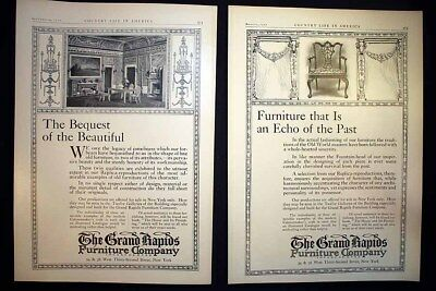 1910 Antique Grand Rapids Furniture Co Louis Xv French Artist