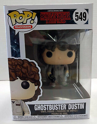 Stranger Things Ghostbuster Dustin Funko POP TV #549 Figure - NEW