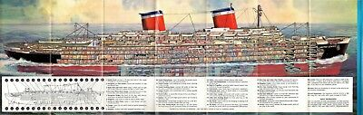 1950s UNITED STATES Brochure w/ Famed Reavis Cutaway - NAUTIQUES sHiPs WORLDWIDE