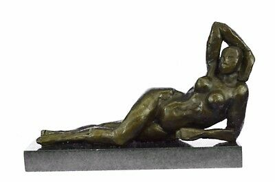 Bronze Sculpture **DEAL** Hot Cast Abstract Nude Female Tribute Moore Statue Art