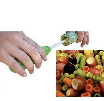 New 4 pcs Vegetable Spiral Cutter Spiralizer Digging Device Corer and Vege Drill