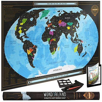 World Map For Scratch with Countries Delineated Grande Poster Luxurious