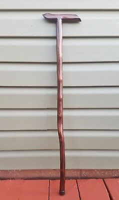 """33"""" Walking Cane Stick Hand Carved Ironwood Red Mahogany Stain Made in USA"""