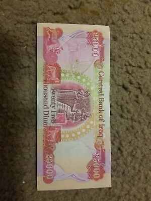 500,000 NEW IRAQI DINAR UNCIRCULATED CURRENCY 20 x 25000 IQD notes