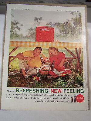 "Four ""Coca-Cola"" Full Page Magazine Ads from the 1960's"