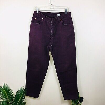 Levis Womens Jeans Size 14 Medium Dark Purple Relaxed Fit Tapered Leg 738