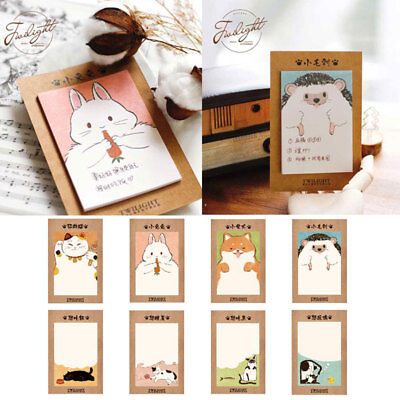 Cute Kawaii Animal Sticker Bookmark Memo Index Tab Sticky Post Notes Stationery