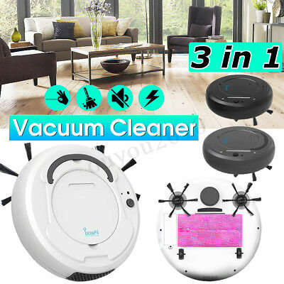 3-in-1 Smart Vacuum Cleaner Automatic Robot Sweeping Mop Wireless USB Dry / Wet