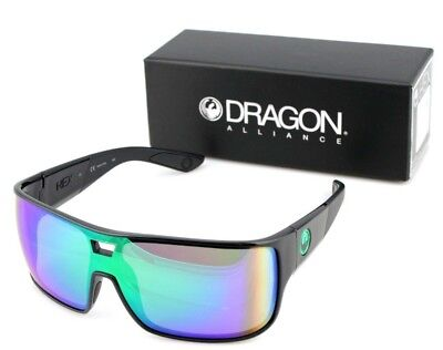 9c1b1f41bd9 NEW Genuine DRAGON HEX Shiny Black Green Ion Rectangle Men Sunglasses DR 045
