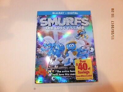 Smurfs The Lost Village bluray, case, and slip only 2017 no dvd no digital code