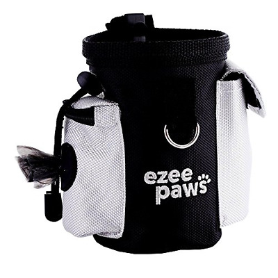 Dog Puppy Treat Snack Bag with Poo Bag Holder, Training Belt Clip by Ezee Paws