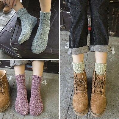 5pairs Ladies Wool Cashmere Socks Winter Soft Warm Thick Casual Sports Sock #AM8
