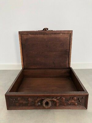 Pair Of French Antiques Drawer Oak Wood Hand Carved