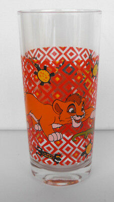 Rare The LION KING longdrinkglass Simba and Pumba RED MINT The Netherlands