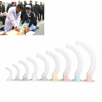 9pcs Oral Airway Kit Multi-color Disposable Gas Guide Tube for First Aid Airway