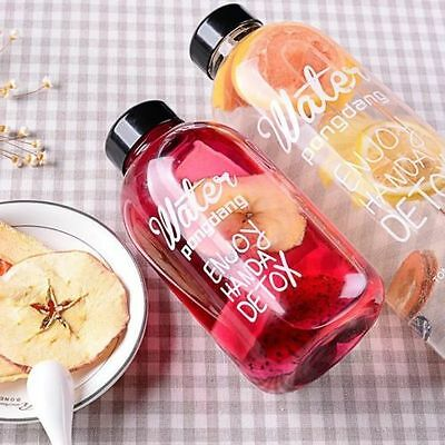 Portable Clear Bottle Sport Juice Pure Water Cups Travel Bottles 600ML/1L #AM8