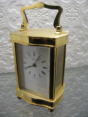 Solid Brass Carriage Clock by Henley Bridport Dorset