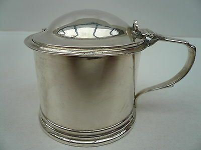Antique Silver Mustard Pot, London 1852, William Robert Smily