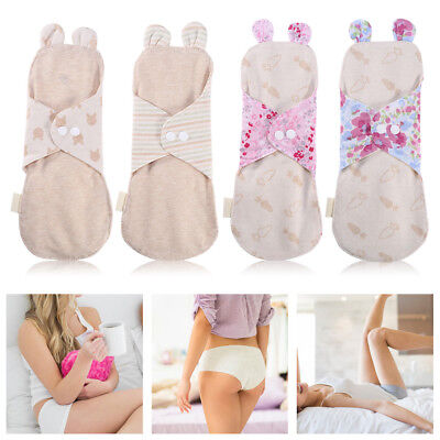 Reusable Cotton Menstrual Pad Washable Day&Night Panty Liner Sanitary Cloth