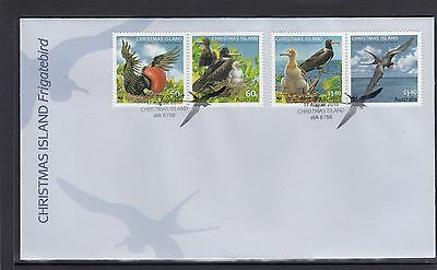 CHRISTMAS Island 2010 FRIGATE BIRD Wildlife design set of 4 on FDC - Birds.